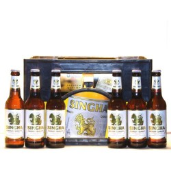 Singha Lager Bier 24 Flaschen mit 0,33 Ltr. Inhalt, Thailand