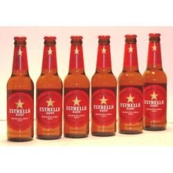 6 x Estrella Damm, in der 0,33 Ltr. Flasche aus Barcelona, Spanien