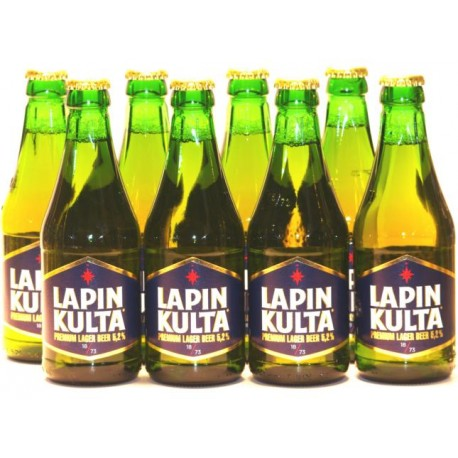 8 x Lapin Kulta, Premium Lager aus Finnland