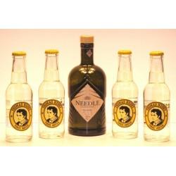 1 x Needle Black Forest Dry Gin 0,50 Ltr.    4 x Thomas Henry Tonic Water in der 0,20 Ltr. Flasche aus Deutschland