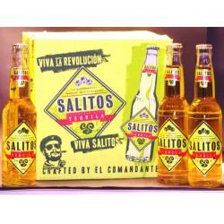 12 Flaschen Salitos Tequila in der 0,33 Ltr. Flasche