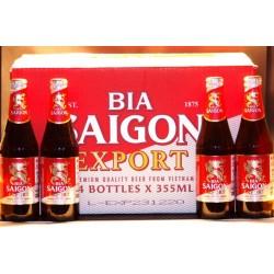 Saigon Export Bier 24 Flaschen mit 0,33 Ltr. Inhalt aus Vietnam