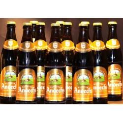 12 x Andechser Doppelbock, dunkel aus der Klosterbrauerei Andechs in der 0,50 Ltr. Flasche