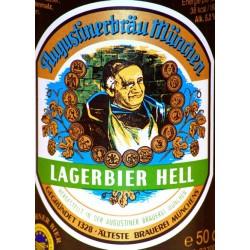 12 Flaschen in 0,50 Ltr. Flasche Augustiner Lager Hell aus München