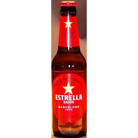 12 x Estrella Damm in der 0,33 Ltr. Flasche aus Barcelona