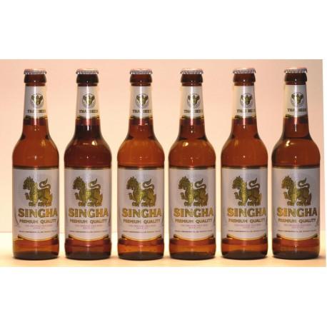 6 Flaschen Singha Bier