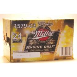 24 Flaschen Miller Genuine Draft, 0,33 Ltr. Glasflasche inkl. Pfand